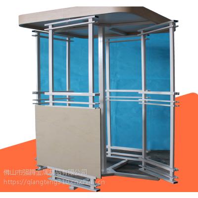 强腾展具定制屏风式瓷砖展示架 金属展示架 墙纸壁展览器材