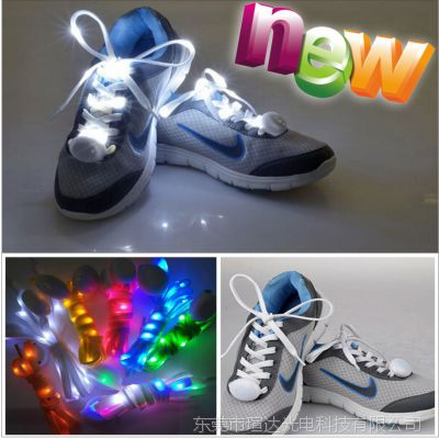 新款 led鞋带 尼龙 发亮  第九代 发光鞋灯 多色多彩夜光绳 闪亮
