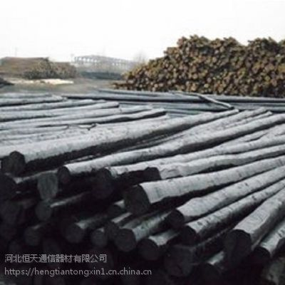 恒月生产6-10米防腐油木杆