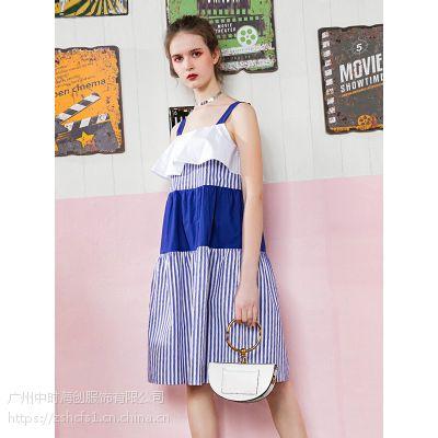 武汉洛呗一女装折扣货源批发专柜尾货连衣裙特卖多种款式多种风格