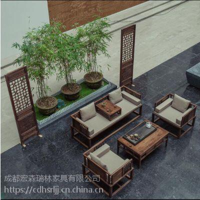 绵阳酒店仿古家具绵阳茶楼仿古中式家具绵阳会所仿古实木新中式家具