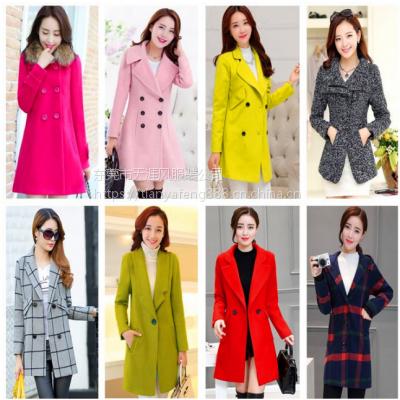 便宜羊绒大衣风衣批发韩版新款女装呢子大衣批发