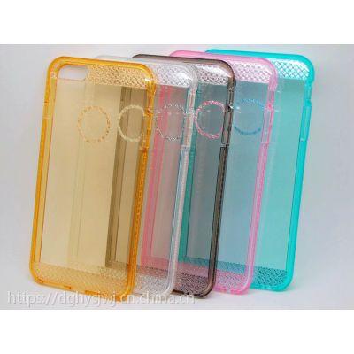 iphone6s plus星钻手机壳防摔透明苹果6plus闪粉手机套气囊来电闪