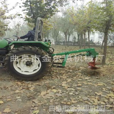 四轮车载式植树挖坑机 自走式植树挖坑机 作业高效种植钻洞机