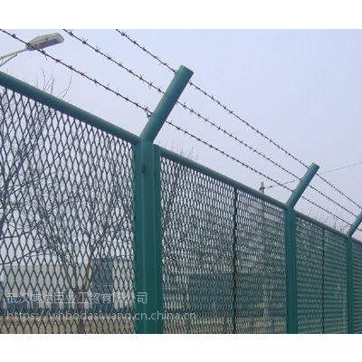 汉口北保税区外围铁丝护栏网 综合保税区护栏网采用菱形斜方孔网