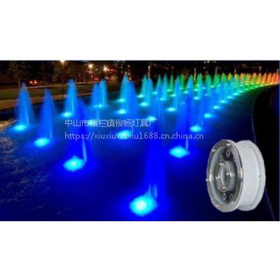 批发led彩色水底灯 喷水池 展会 不锈钢水下灯 俊杨照明亮化工程灯