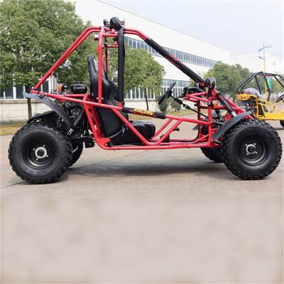 百一牌后驱四轮越野卡丁车 200cc方向盘式卡丁车 小型钢管汽油越野车