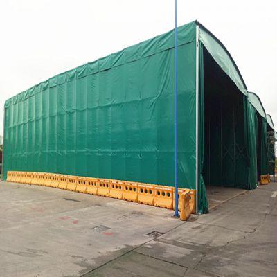 泰州市海陵区大型移动推拉蓬 工地活动伸缩雨棚 活动推拉伸缩式雨棚 布 厂家直销