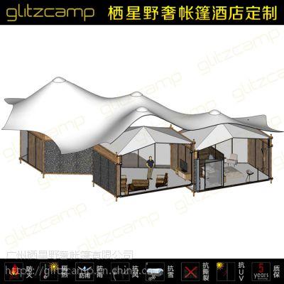 帐篷酒店直销 PVC篷布防水环保 农家乐度假住宿住人 户外露营帐篷