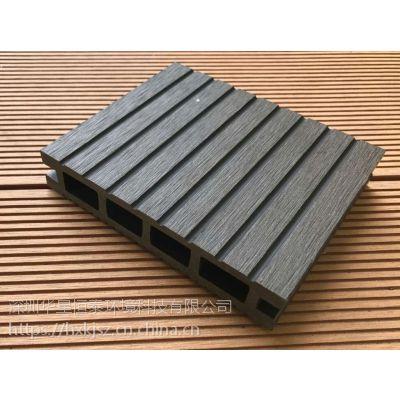 深圳塑木新材料 优质环保木 工厂直销木塑户外地板 户外景观工程地板