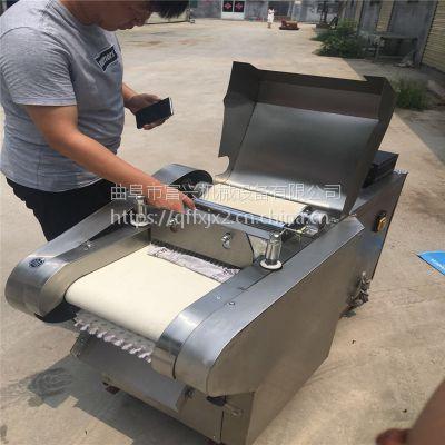 番薯土豆切片机富兴-豆干切片机一体机-双头多功能切菜机
