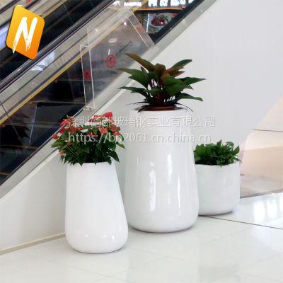 南部玻璃钢nbhp002圆形花盆组合