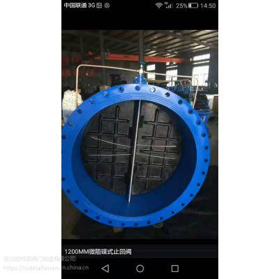 定制 HH48/49X微阻缓闭蝶式止回阀 DN50-DN600 球墨铸铁止回阀 质量保证