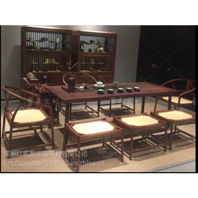 成都博古架定做 成都茶桌、新中式实木家具