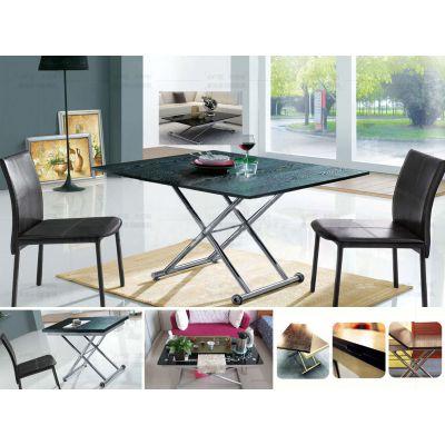 现代升降折叠餐桌 时尚升降茶几与餐桌 茶几餐桌两用 茶几变餐桌