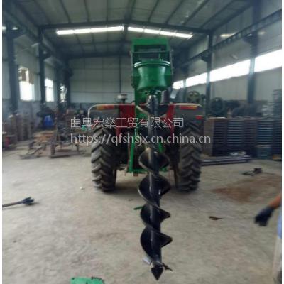 厂家供应 大棚螺旋钻坑机拖拉机挖坑机安装方法