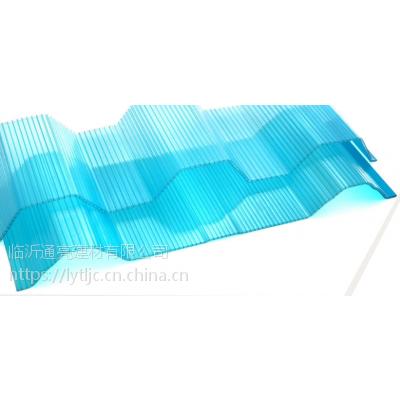 批发小坑塑料波浪瓦半透明采光瓦840型瓦楞阳光瓦FRP树脂瓦