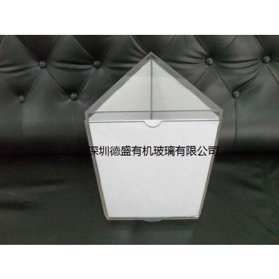 亚克力三角形资料架 广告单展示架 宣传单展架 深圳德盛制品