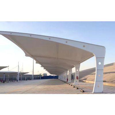南通膜结构车棚厂家订制 南通膜结构车棚艺术性、经济性、节能性