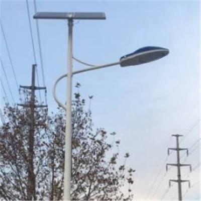 衡水太阳路灯安装现场 路灯电池板 6米30W