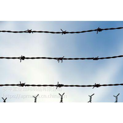 孟业供应圈山带刺铁丝防护网 圈山圈地镀锌刺绳防扒网