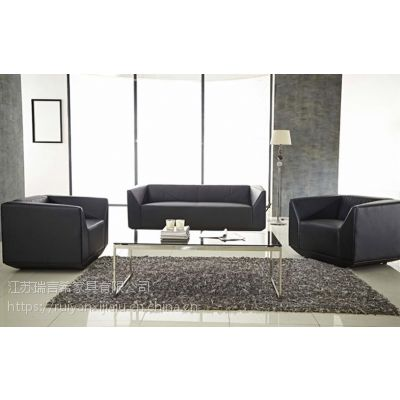 办公室简约真皮沙发组合 钻石时尚沙发椅定制