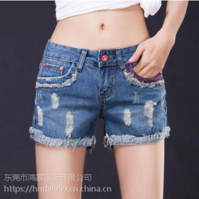 网络女士牛仔短裤批发厂家直销一手货源欣缘木子阿里巴巴时尚韩版服装批发