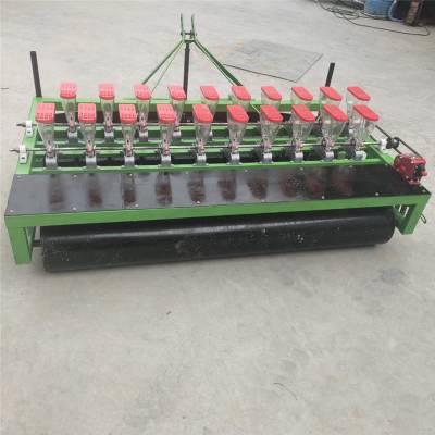 高阳小麦拖拉机播种机 富兴汽油带动蔬菜播种机 蔬菜精密播种机厂家