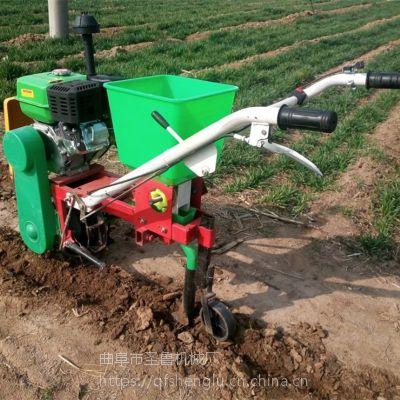 汽油自走式播种机 玉米施肥机 圣鲁大马力播种施肥机