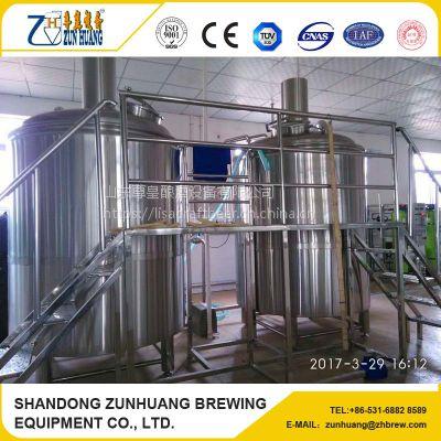 尊皇ZH-1000L中小型啤酒设备帮你合理建厂