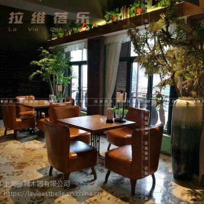 供应漫咖啡maan coffee复古西餐厅厅 咖啡陪你实木桌椅