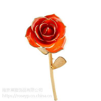 黛雅金玫瑰 橘红色款热卖 情人节创意礼物批发代理