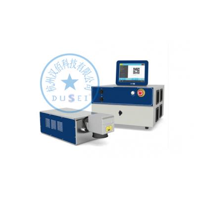 杜赛高速瓶盖激光打码机 一分钟可以打300米的激光打二维码机