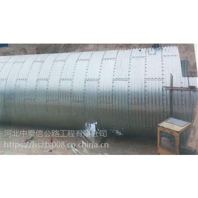 波纹涵管厂家 河南钢波纹管涵施工 380*110mm波形涵管 工期短造价低 排水排污