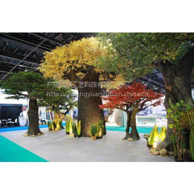 水泥松树假树 迪拜展馆假树仿真树 仿真松树