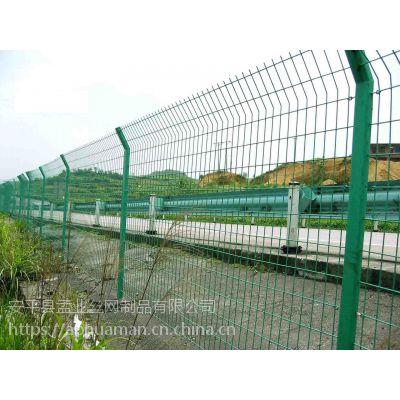 深圳公路安全防护网/桃形柱护栏网多钱一米/框架护栏网片厂家