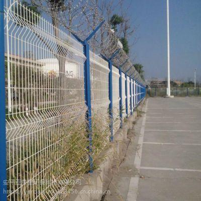 饶阳马屯浸塑三角折弯型铁丝网 重庆公路专用隔离栅 花园庭院围栏网