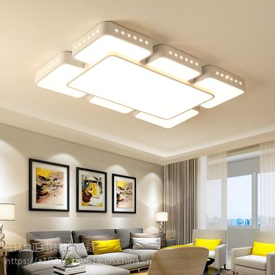 新款促销长方形客厅灯 简约现代大厅灯创意主卧室灯大气led吸顶灯