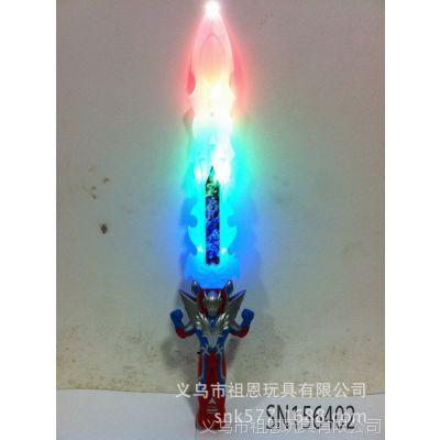 电动发声发光刀剑儿童玩具批发 地摊热卖卡通闪光剑  56402