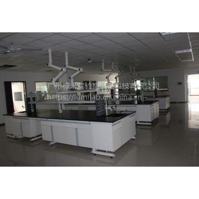 禄米科技钢木洗涤台 实验室设备 工作台 洗眼器实验设备