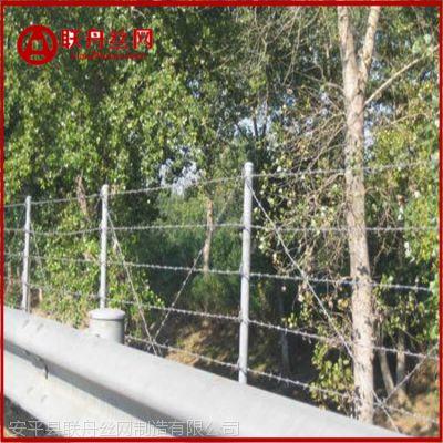 围墙防护刺丝 高速隔离金属丝绳 热镀锌双股刺绳 河北联舟