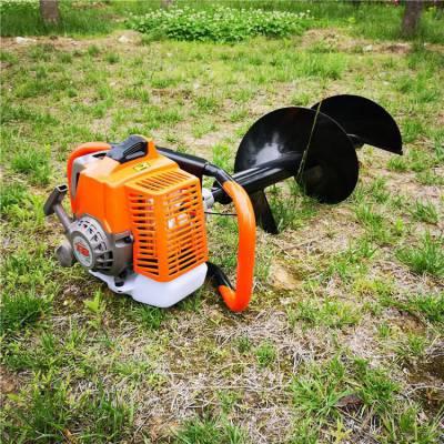 汽油挖坑地钻机 单人打窝螺旋刨穴机 3.2马力打窝机钻眼机