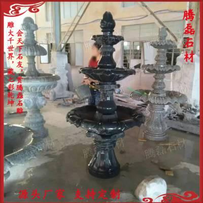 福建惠安厂家大型 景观 户外园林 欧式 装饰 天然石材 艺术特色石雕叠水钵