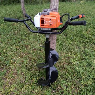 畅销推荐手提式植树打眼机农用果树施肥打洞机旭阳汽油二冲程地钻