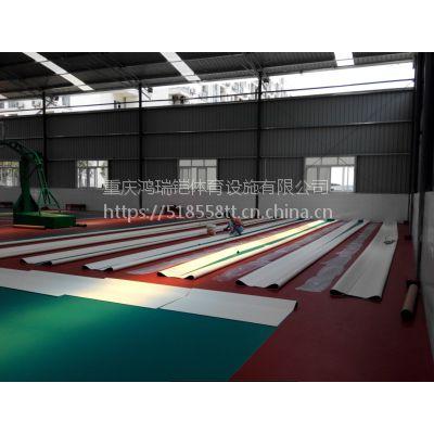"""重庆羽毛球场PVC弹性塑胶地板,YLO-1江苏""""英利奥""""牌水波纹,4.5mm厚"""