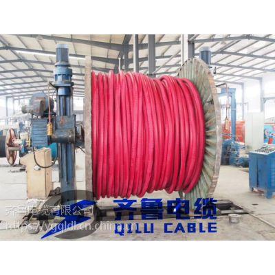 供应聚氯乙烯绝缘聚氯乙烯护套阻燃齐鲁电力电缆 ZR-VV0.6/1KV 1*240