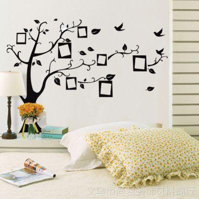 爆款外贸墙贴唯美照片树相片墙纸客厅卧室墙贴纸壁纸LM7031