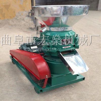 德钦县青饲料加工可移动式饲料颗粒机 家用电平模颗粒机
