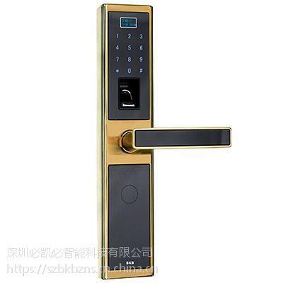 K-1389指纹密码锁(香槟金)-智能锁供应-深圳必凯必
