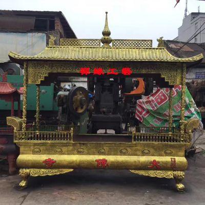 佛寺铸铁长方形四龙柱香炉 湖南永州长方香炉供应商